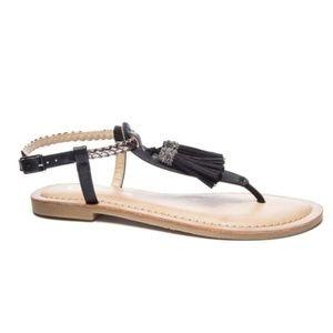 CL by Laundry Natti Sandals Black Size 8